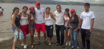 CAMPISTAS SE DIERON CITA EN EL LAGO CALIMA