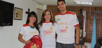 Esgrimistas olímpicos se pusieron la camiseta Valle Oro Puro