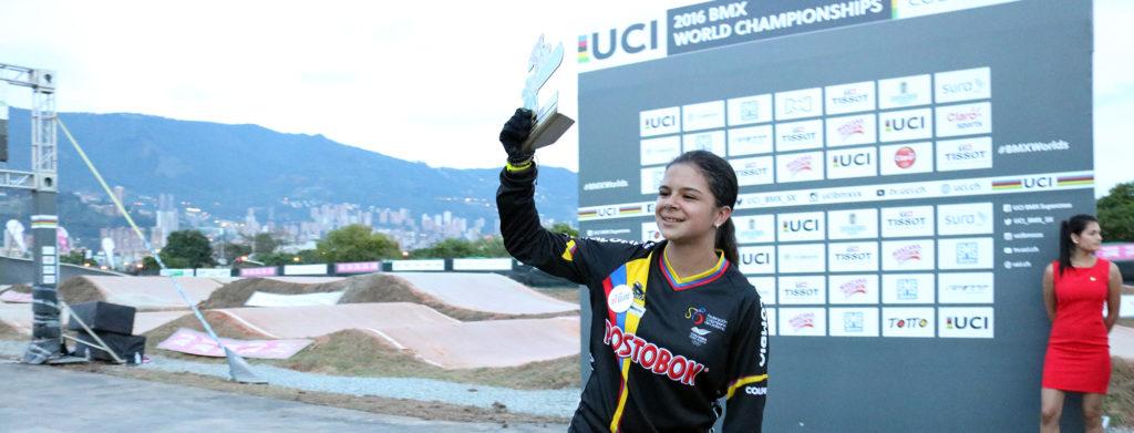 Vallecaucana suma primer oro de Colombia en Mundial de BMX
