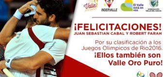 Tenistas Valle Oro Puro Juan Sebastián Cabal y Robert Farah clasificaron a Juegos Olímpicos de Río 2016