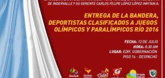 Gobernadora entregará bandera a deportistas del Valle en Río 2016