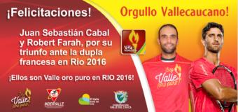 Cabal y Farah avanzan a segunda ronda en tenis dobles de Río 2016