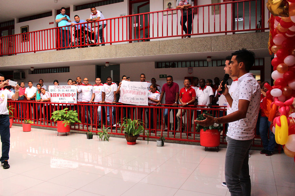 Jarlinson Pantano visitó a los funcionarios de Indervalle