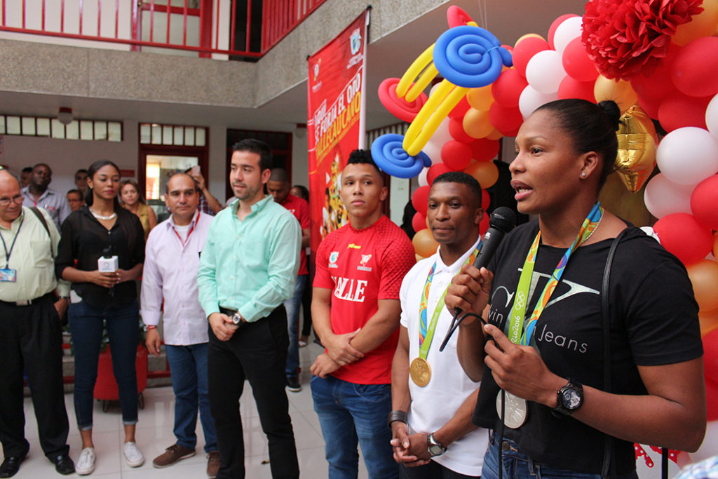 Gerente de Indervalle ofreció reconocimiento a los medallistas olímpicos