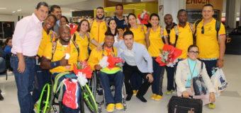 Deportistas vallecaucanos que participaron en los Juegos Paralímpicos de Río recibieron calurosa bienvenida