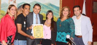 Jarlinson Pantano fue homenajeado en la Asamblea del Valle