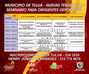 Seminario para dirigentes en deportes de nuevas tendencias @ Tuluá | Tuluá | Valle del Cauca | Colombia