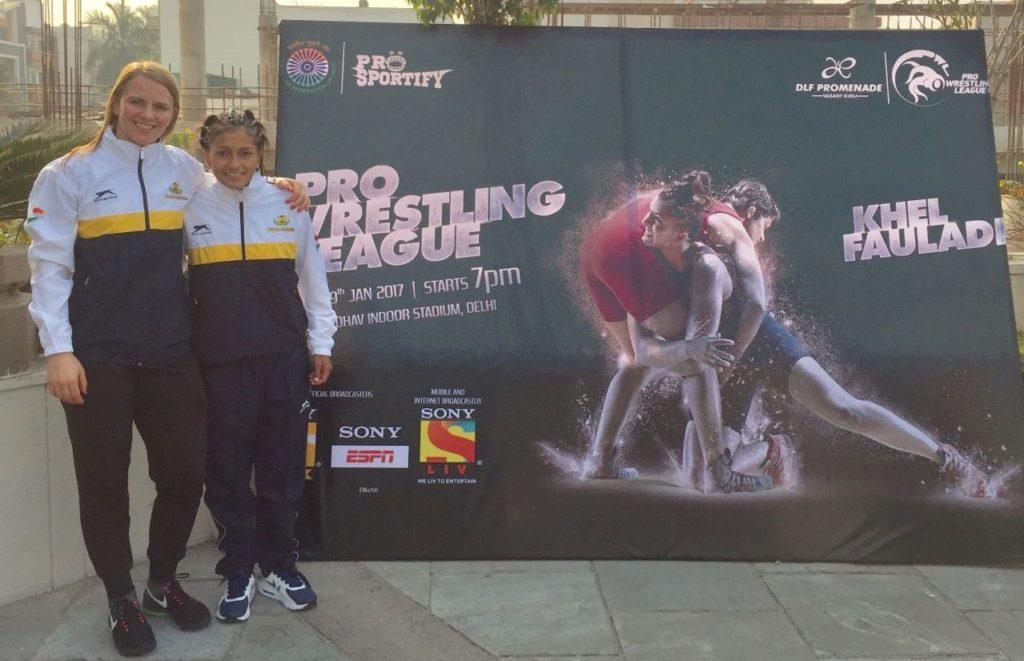 Luchadora vallecaucana Carolina Castillo compite en el evento más grande de la India