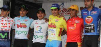 Oscar Sevilla asumió el liderato de la Vuelta al Valle 2017