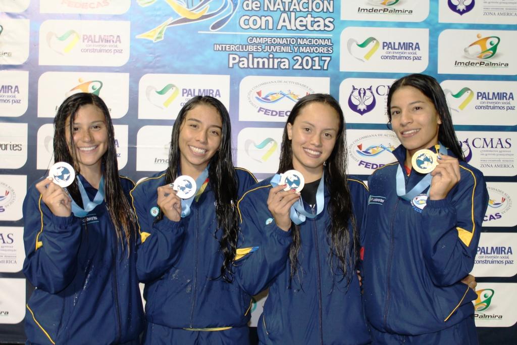 Colombia fue el gran campeón del Panamericano de Natación con Aletas en Palmira