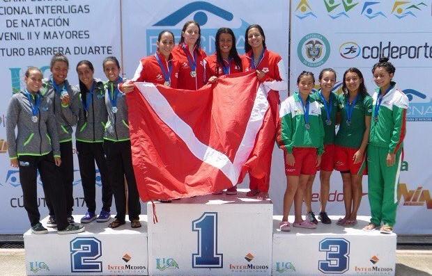Con nuevo récord nacional, Valle se corona campeón del Interligas de Natación