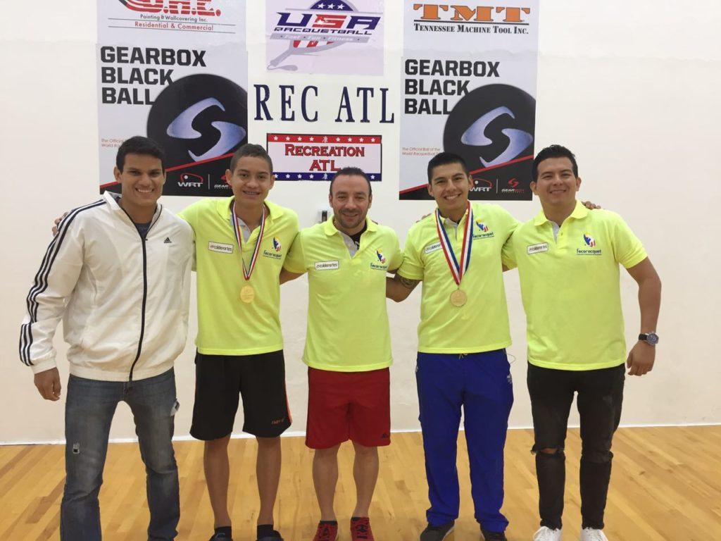 Oros y bronces del racquetball vallecaucano en el mundo