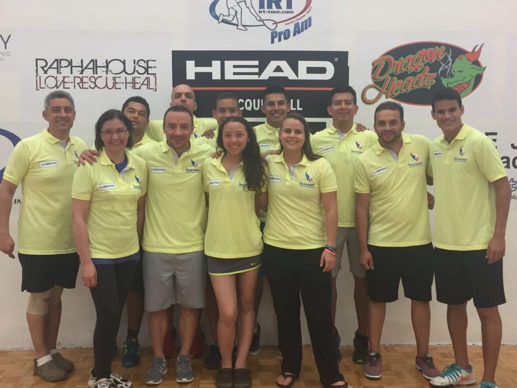 Racquetbolistas vallecaucanos, en lo más alto del podio en Estados Unidos