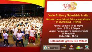 Maratón de Actividad Física Musicalizada en Quinamayo-Florida @ Florida | Valle del Cauca | Colombia