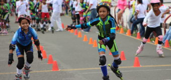 Niños y niñas de Esdepaz vivieron la fiesta deportiva del patinaje en Cali