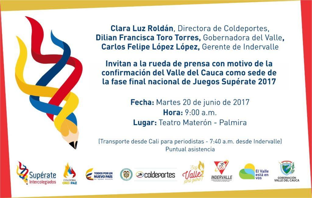 El martes se entregará la bandera de Supérate al Valle del Cauca