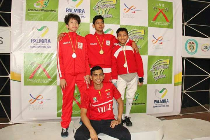 Palmira recibió a la esgrima nacional, Valle fue subcampeón