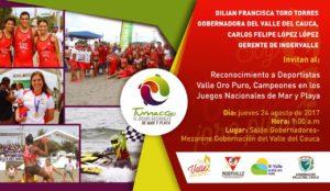 Reconocimiento a Deportistas Valle Oro Puro Campeones en Juegos de Mar y Playa @ Gobernacion del Valle del Cauca | Valle del Cauca | Colombia