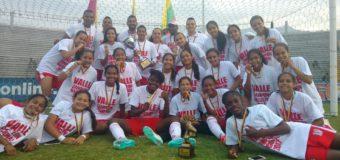 Valle del Cauca festejó en Ibagué un nuevo título en la categoría prejuvenil femenina