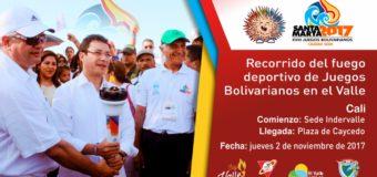 El fuego de los Juegos Bolivarianos 2017 visitará al Valle del Cauca