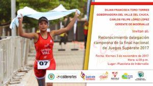 Reconocimiento delegación campeona de la final nacional de Juegos Supérate 2017 @ indervalle   Cali   Valle del Cauca   Colombia