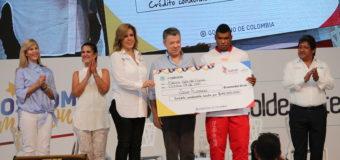 Presidente Santos anunció en Palmira que pedirá al Congreso creación del Ministerio de Deporte
