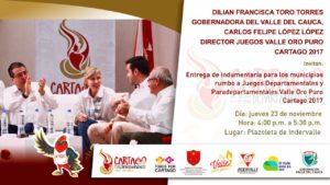 Entrega Indumentaria para los municipios rumbo a Juegos Departamentales y Paradepartamentales @ indervalle | Valle del Cauca | Colombia