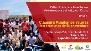 Clausura Mundial de Valores Intercomunas de Buenaventura @ Cancha Montechino | Buenaventura | Valle del Cauca | Colombia