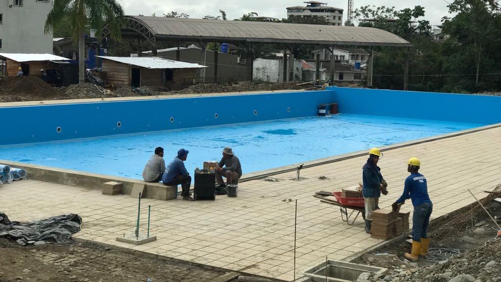 Bonaverenses hacen seguimiento a la obra del Polideportivo El Cristal