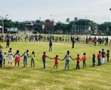 Recreapaz brinda recreación a niños y niñas de la Fundación World Vision