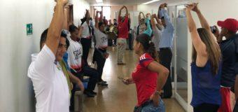 Las pausas activas llegaron con la cultura del autocuidado a la Gobernación del Valle del Cauca