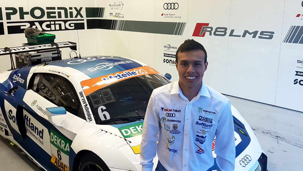 Oscar Tunjo compite en el Campeonato Europeo ADAC GT Masters este fin de semana en Austria