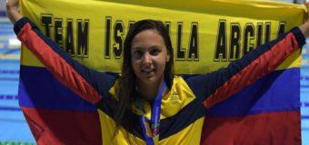 Isabella Arcila, una multimedallista que lleva la corona bajo el agua