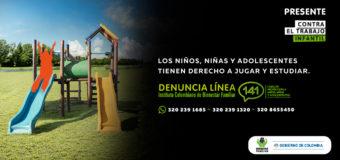 En Colombia: todos contra el trabajo infantil
