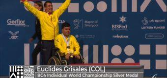 Euclides Grisales, un héroe paralímpico que sigue conquistando medallas en el mundo