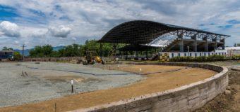 Gobernadora inspeccionó obra de construcción de pista de patinaje en Guacarí