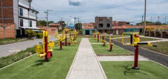 Cartago ya tiene en el barrio La Aurora un nuevo gimnasio biosaludable y cancha múltiple para el disfrute de los vallecaucanos