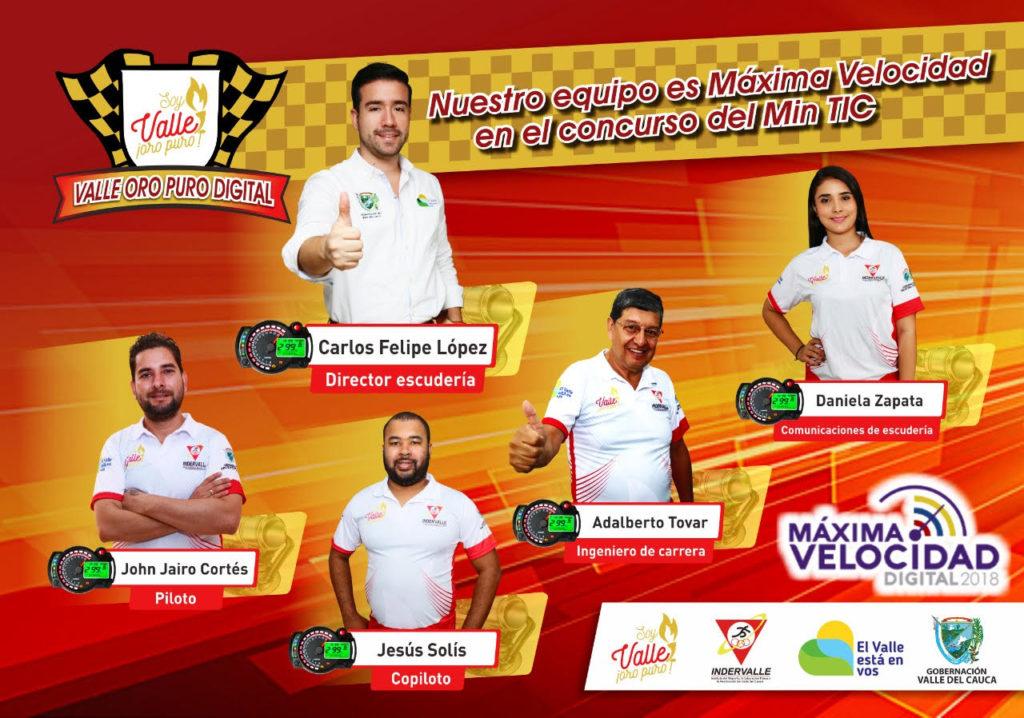 INDERVALLE, segunda entidad del Valle con más puntos en el concurso 'Máxima Velocidad Digital 2018'