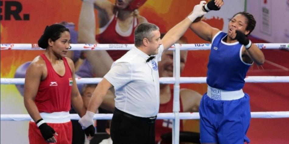La vallecaucana Paola Caicedo aseguró la primera medalla en la historia de Colombia en un mundial femenino de boxeo