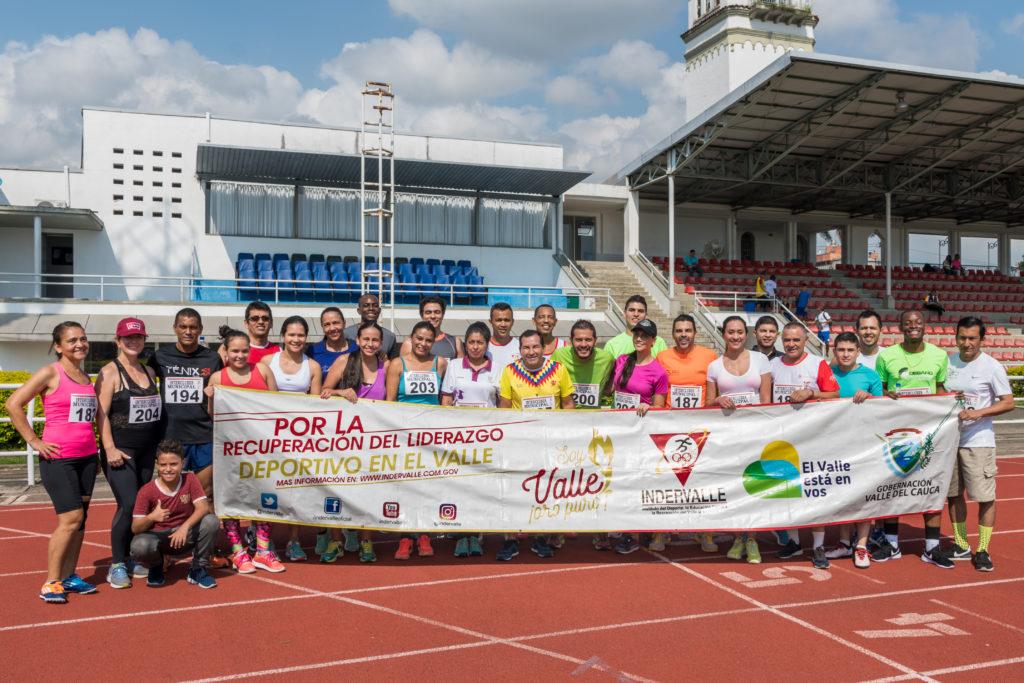 Periodistas batieron récords en el atletismo de los Juegos Intermedios Valle Oro Puro 2018