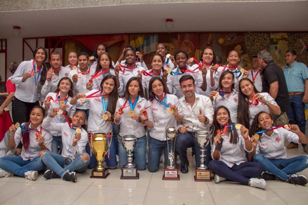 Las campeonas suramericanas del Valle, fueron homenajeadas por Indervalle