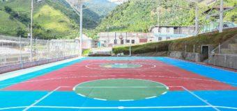 En Riofrío cuentan con una nueva cancha múltiple, para el deporte y la recreación