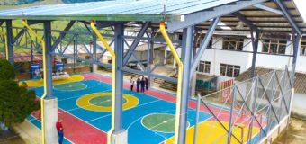 Una cancha múltiple, el renovado espacio deportivo con el que cuenta el municipio de El Cairo
