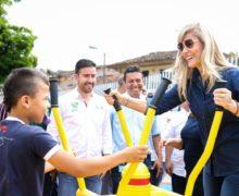 Gobernadora del Valle del Cauca, entregó 4 nuevas obras de infraestructura deportiva en los municipios de Alcalá y El Cairo