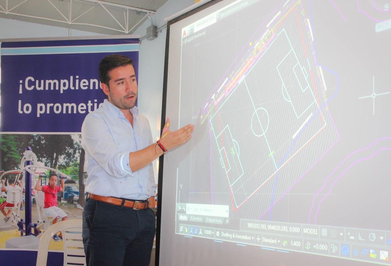 Villa Vanegas corregimiento del municipio de Ginebra, recibirá la adecuación de un gran escenario deportivo