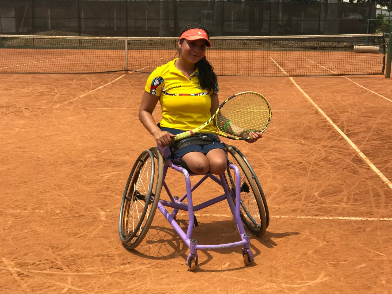 En el campo de tenis Zuly Rodríguez se prepara para brillar en los Juegos Paranacionales 2019