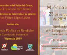 Indervalle rendirá cuentas a la comunidad este miércoles 23 de octubre