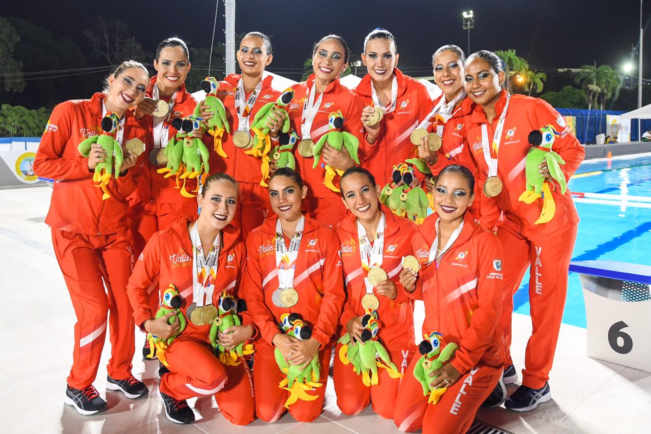 La natación artística terminó su participación en Juegos Nacionales 2019, con 3 oros y 4 platas para el Valle