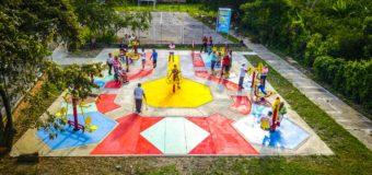 Gran alegría para habitantes del corregimiento de Campoalegre en Andalucía, quienes ya cuenta con un gimnasio biosaludable al aire libre