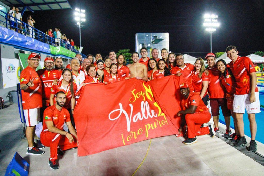 Natacion carreras Valle Campeon Juegos Nacionales 2019